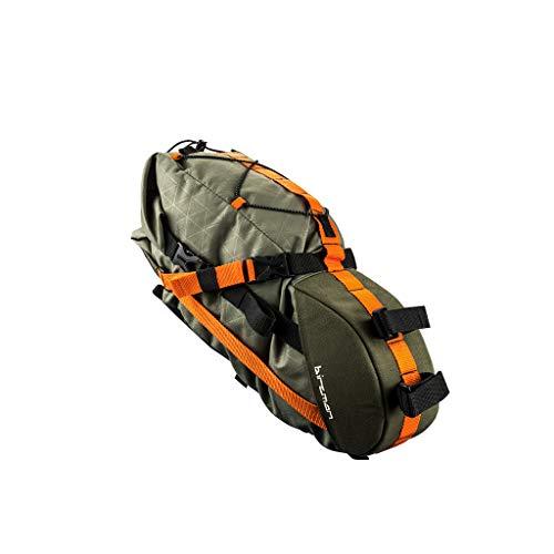 Birzman Packman Travel Saddle Pack Transporteure, grün, orange, schwarz, Einheitsgröße