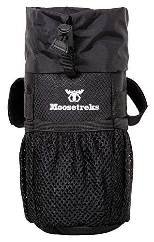 Moosetreks Bike Lenkervorbau Tasche | Nahrungsmittel Snack Aufbewahrung Wasser Flasche Halter | bikepacking Fahrrad Touring Pendler Isolierte Tasche