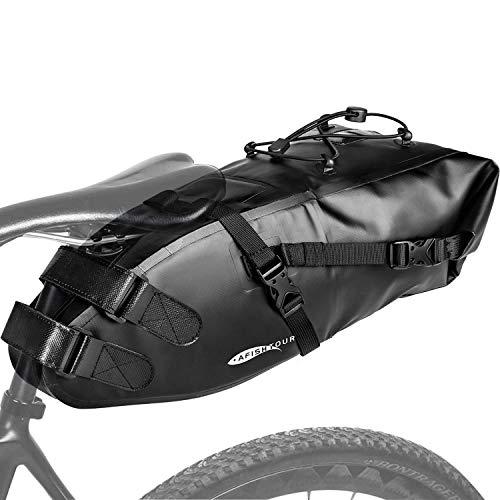 Jeebel Fahrradtasche Wasserdicht BackLoader Satteltasche - 10L Bikepacking Taschen Fahrradtasche Sattelstütze für Rennrad Mountainbike