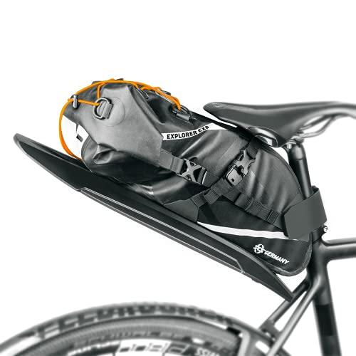 SKS GERMANY 11672 EXPLORER EXP. SADDLEBAG wasserdichte Bikepacking Satteltasche, Fahrradzubehör (Fahrradtasche mit Schutzblech zur werkzeugfreien Befestigung, verstellbare Gurte, inkl. Packnetz)