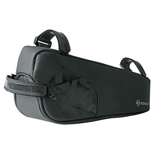 SKS GERMANY EXPLORER EDGE Fahrradtasche, Fahrradzubehör (Rahmentasche aus gummiertem, wasserabweisendem Gewebe, laminierte Reißverschlüsse mit ergonomischem Easy-Zip, Volumen: 1 l), schwarz