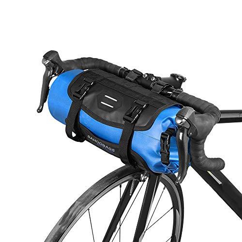 Lixa-da Wasserdicht vorne Fahrrad Tasche, Bike Frontrahmen Lenker Gepäckträger mit Rolle, Dry Bag Top Verschluss 3L-7L verstellbar