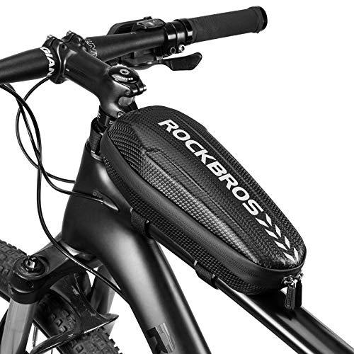 ROCKBROS Fahrrad Rahmentasche wasserdicht Oberrohrtasche für MTB Rennrad Faltrad Schwarz L 1,5L / M 1,1L
